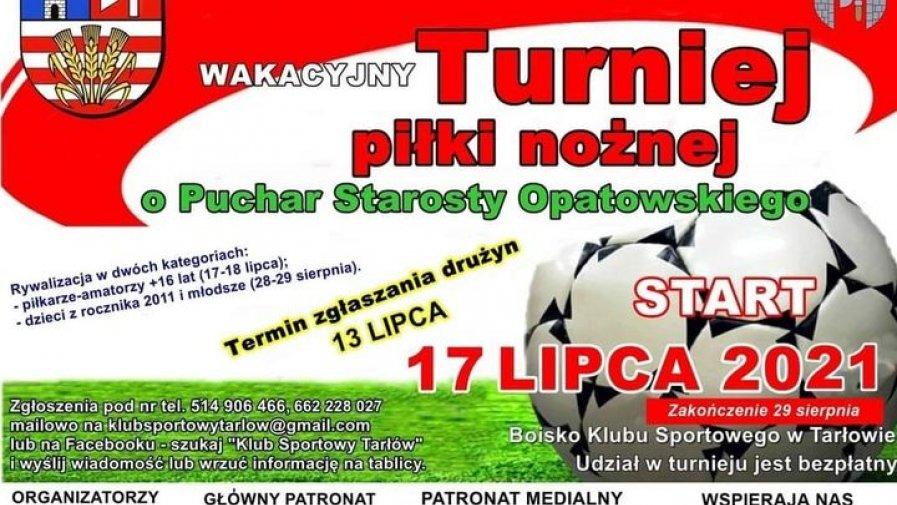 Wakacyjny turniej O puchar Starosty Opatowskiego