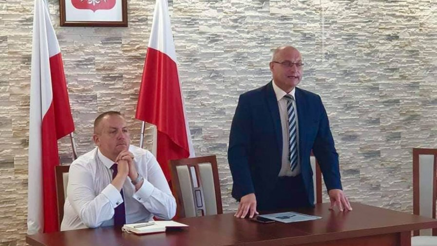 Tomasz Staniek, starosta opatowski spotkał się z radnymi i sołtysami gminy Tarłów