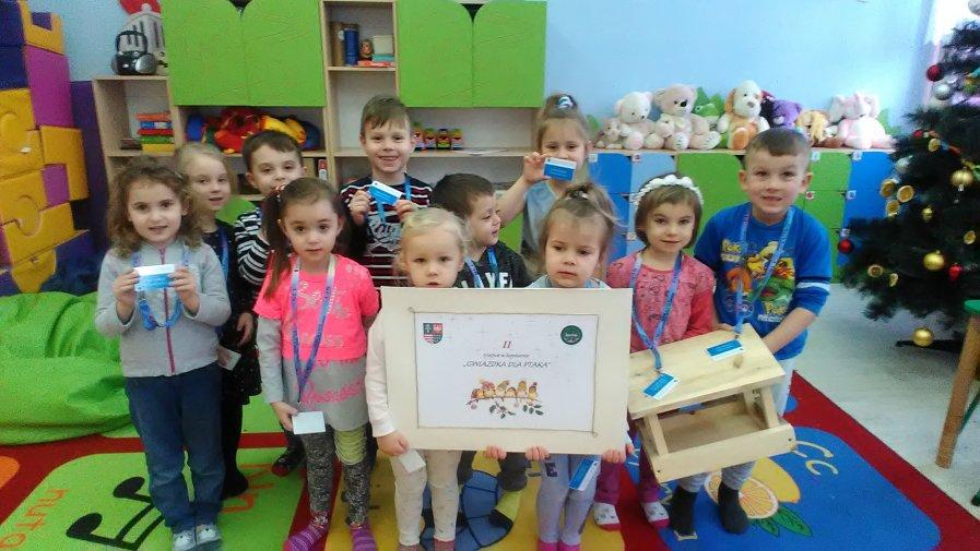 Zebrali karmę dla ptaktów i zajęli drugie miejsce w województwie