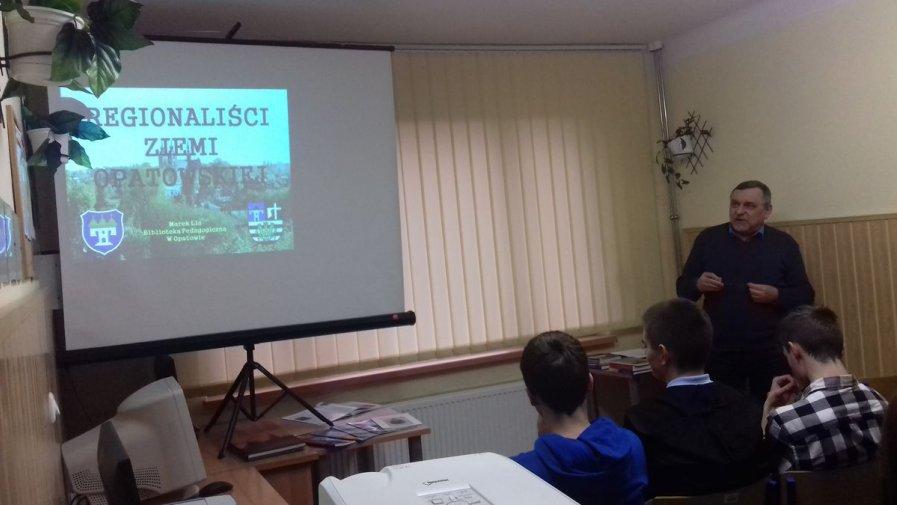 """Kolejne ciekawe spotkanie uczniów opatowskiej szkoły na """"Górce"""""""