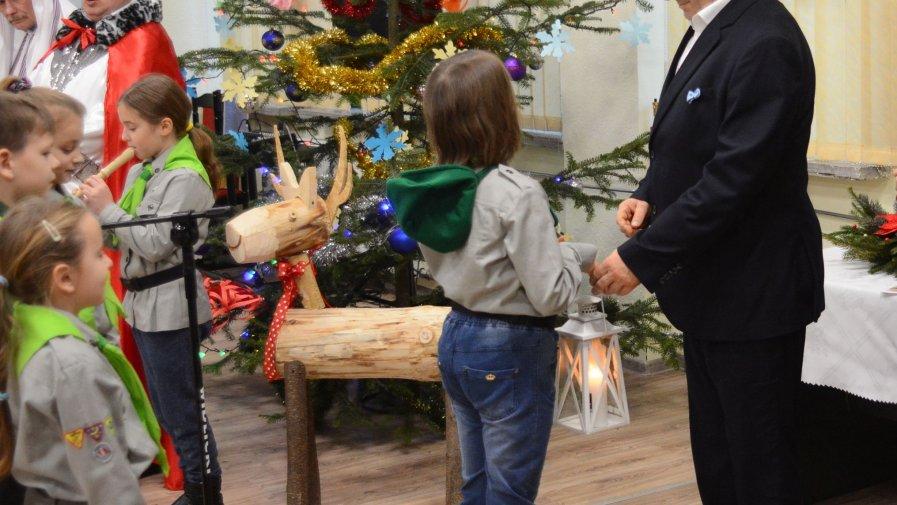 Spotkanie wigilijne w Starostwie Powiatowym w Opatowie