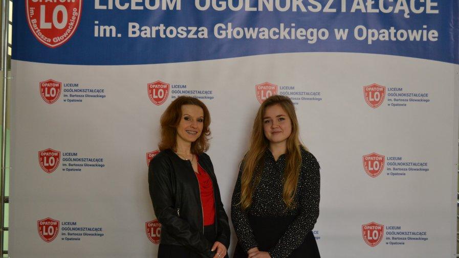 """Sukces uczennicy """"Bartosza"""" w olimpiadzie z języka angielskiego"""