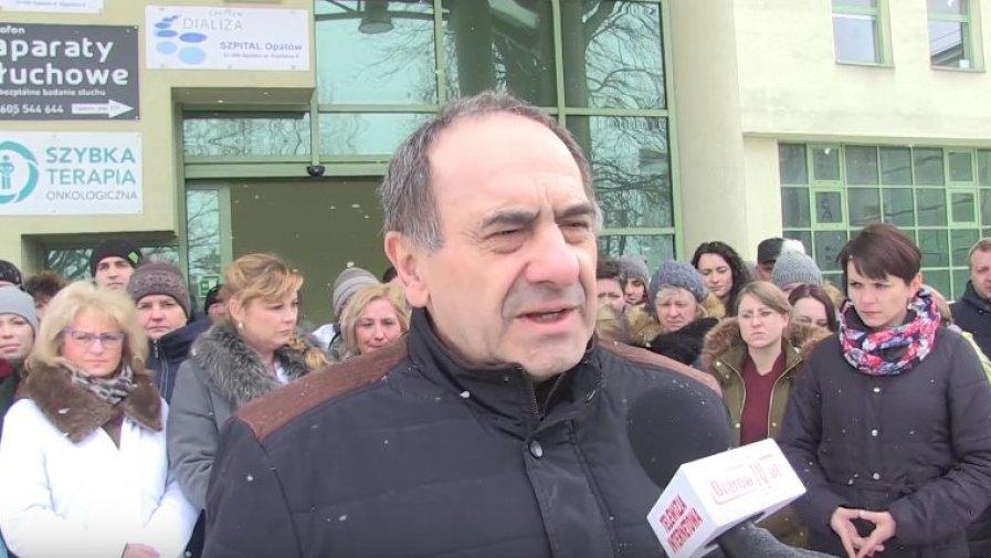 Stanowisko Bogusława Włodarczyka, starosty opatowskiego w sprawie szumu medialnego wokół szpitala w Opatowie