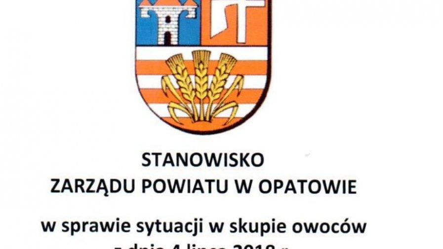 Stanowisko Zarządu Powiatu Opatowskiego