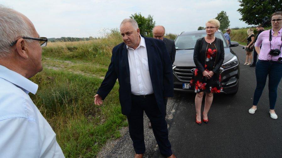Wyremontowana droga w gminie Sadowie