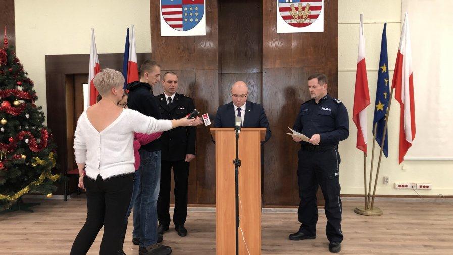 Konferencja prasowa Tomasza Stańka, starosty opatowskiego w zakresie bezpiecznych ferii